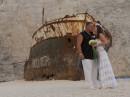Svatba na pláži Navagio, Zakynthos, Řecko