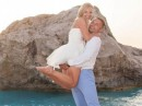 Svatba na pláži, ostrov Lefkada