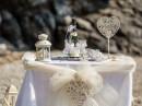Obřadní stolek, svatba na pláži, ostrov Skopelos
