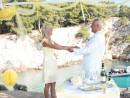 Svatba na útesu, Skopelos, Řecko