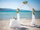 Svatební obřad na pláži, ostrov Zakynthos