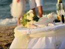 Svatba na pláži, ostrov Kréta, Řecko