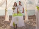 Svatba na pláži Kathisma, ostrov Lefkada