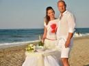 Svatba na pláži, ostrov Kréta