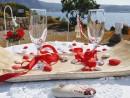Svatební dekorace, ostrov Kos