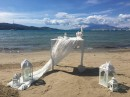 Dekorace obřadního místa, Svatba na pláži, Zakynthos