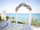 Svatba na ostrově Zakynthos, dekorace obřadního místa