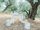 Dekorace obřadního stolku, olivový háj,Zakynthos