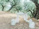 Dekorave obřadního stolku, oliv. háj, Zakynthos