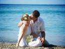 Novomanželské foto na řeckém ostrově Kefalonie